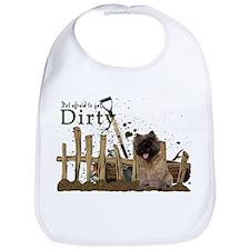 Cairn Terrier getting dirty Bib