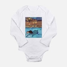 Moose the Chocolate Lab Long Sleeve Infant Bodysui
