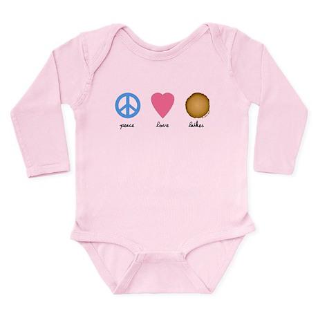 Peace Love Latkes Long Sleeve Infant Bodysuit