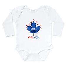 Canadian Chanukah Long Sleeve Infant Bodysuit