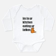 Eating Ur Latkes Long Sleeve Infant Bodysuit