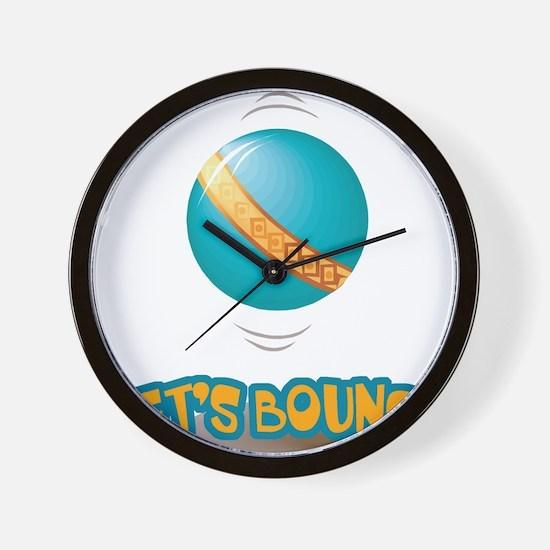 Let's Bounce Bouncing Ball Wall Clock