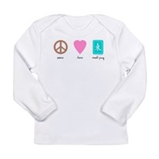 Peace Love Mahjong Long Sleeve Infant T-Shirt