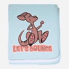 Let's Bounce Kangaroo Infant Blanket