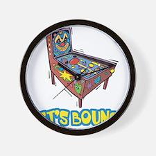 Let's Bounce Pinball Machine Wall Clock