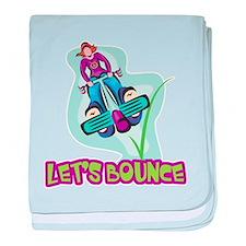 Let's Bounce Pogo Stick Infant Blanket