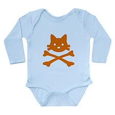 Kitty Crossbones Long Sleeve Infant Bodysuit