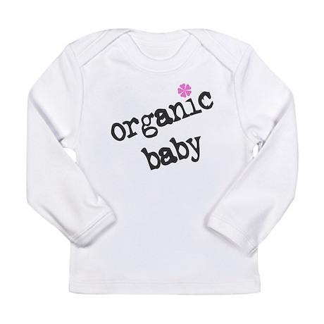 Organic Baby Pink Flower Long Sleeve Infant T-Shir