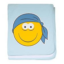Bandana Smiley Face Design Infant Blanket