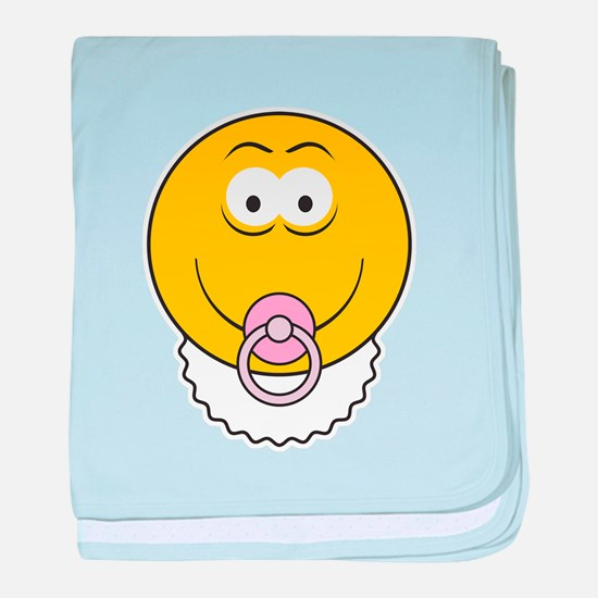 Cute Baby Smiley Face Infant Blanket