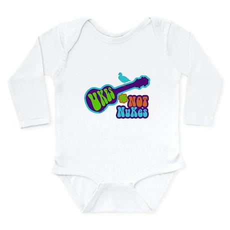 Ukes Not Nukes Long Sleeve Infant Bodysuit