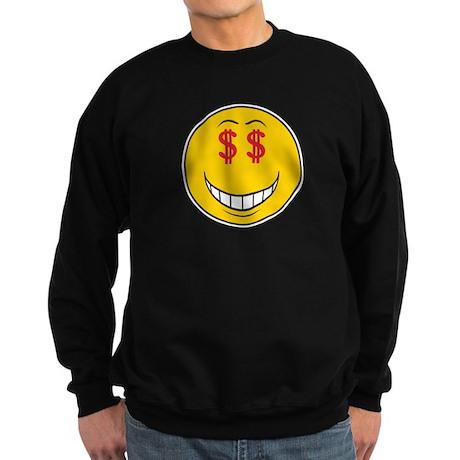 Money Eyes (Greedy) Smiley Fa Sweatshirt (dark)