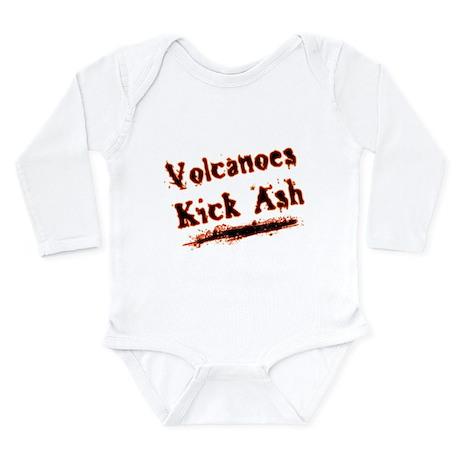 Volcanoes Kick Ash Long Sleeve Infant Bodysuit