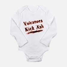 Volcanoes Kick Ash Long Sleeve Infant Bodysuit