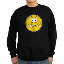 Snarling/Growling Smiley Face Sweatshirt