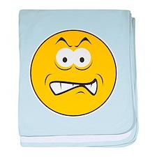 Snarling/Growling Smiley Face Infant Blanket