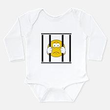 Prisoner Smiley Face Long Sleeve Infant Bodysuit