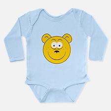 Bear Smiley Face Long Sleeve Infant Bodysuit