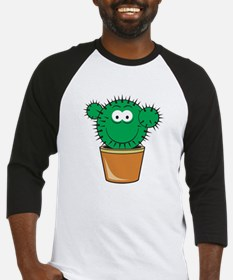 Cute Cactus Smiley Face Baseball Jersey