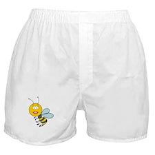 Bumble Bee Smiley Face Boxer Shorts