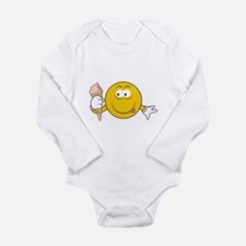 Ice Cream Cone Smiley Face Long Sleeve Infant Body