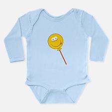Lollipop/Sucker Smiley Face Long Sleeve Infant Bod