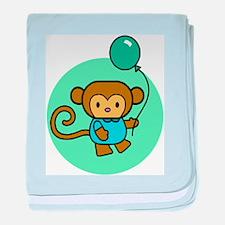 Monkey With Balloon Infant Blanket