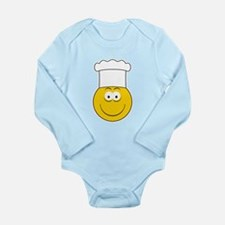 Chef/Cook Smiley Face Long Sleeve Infant Bodysuit