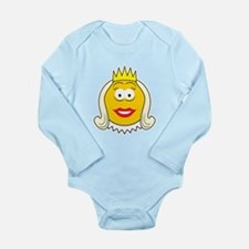 Queen Smiley Face Long Sleeve Infant Bodysuit