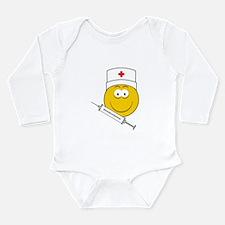 Medical/Doctor Smiley Face Long Sleeve Infant Body