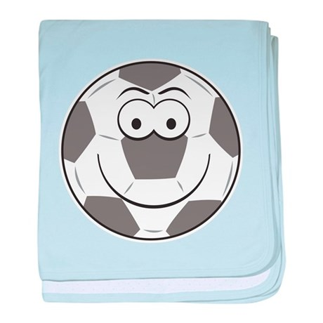 Soccer Ball Smiley Face Infant Blanket