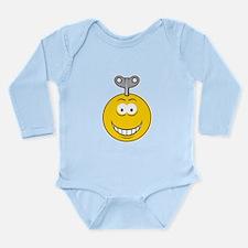 Wind Up Smiley Face Long Sleeve Infant Bodysuit