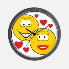 Smiley Faces in Love Wall Clock