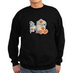 Cute Garden Time Baby Ducks Sweatshirt (dark)