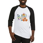 Cute Garden Time Baby Ducks Baseball Jersey