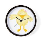Cute Little Girl Chick Wall Clock
