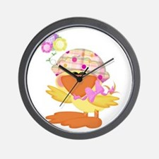 Cute Baby Girl Ducky Duck Wall Clock