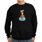 Bunny Sitting on Easter Egg Sweatshirt (dark)