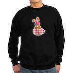 Cute Bunny With Plaid Easter Sweatshirt (dark)