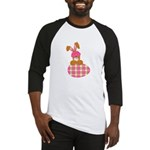 Cute Bunny With Plaid Easter Baseball Jersey