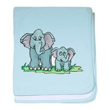 Mommy & Baby Elephant Infant Blanket