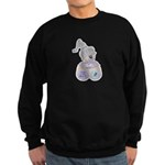 Butterfly Kisses Teddy Bear Sweatshirt (dark)