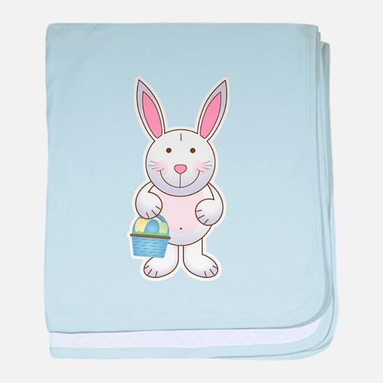 Cute Baby Boy Easter Bunny Infant Blanket