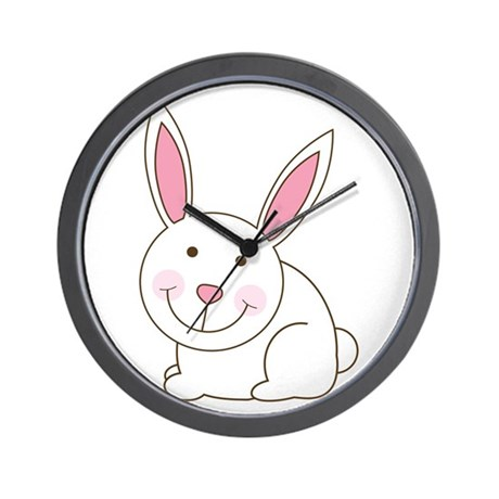 Cute Happy Easter Bunny/Bunni Wall Clock