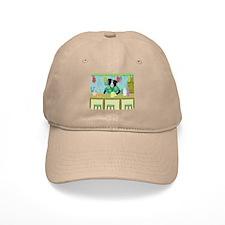 Border Collie Tiki Bar Baseball Cap