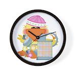 Garden Time Baby Girl Ducky D Wall Clock