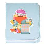 Garden Time Baby Girl Ducky D Infant Blanket