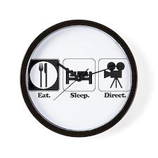 Eat. Sleep. Direct. (Director Wall Clock