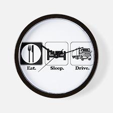 Eat. Sleep. Drive. (Truck Dri Wall Clock