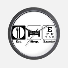 Eat. Sleep. Examine. (Eye Doc Wall Clock